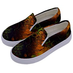 Awesome Fractal 35e Kids  Canvas Slip Ons by MoreColorsinLife