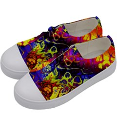 Awesome Fractal 35c Kids  Low Top Canvas Sneakers by MoreColorsinLife