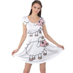 Unicorn Sheep Cap Sleeve Dress by Valentinaart