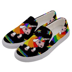 Unicorn Sheep Men s Canvas Slip Ons by Valentinaart