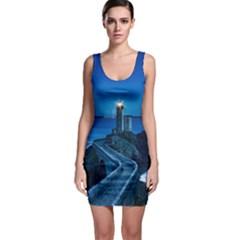 Plouzane France Lighthouse Landmark Bodycon Dress by Nexatart
