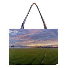 Landscape Sunset Sky Sun Alpha Medium Tote Bag by Nexatart