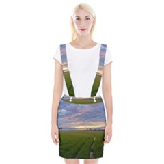 Landscape Sunset Sky Sun Alpha Braces Suspender Skirt by Nexatart