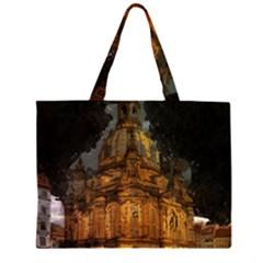Dresden Frauenkirche Church Saxony Zipper Large Tote Bag by Nexatart