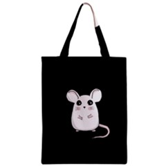 Cute Mouse Zipper Classic Tote Bag by Valentinaart