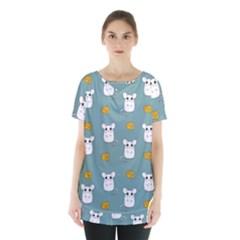 Cute Mouse Pattern Skirt Hem Sports Top by Valentinaart