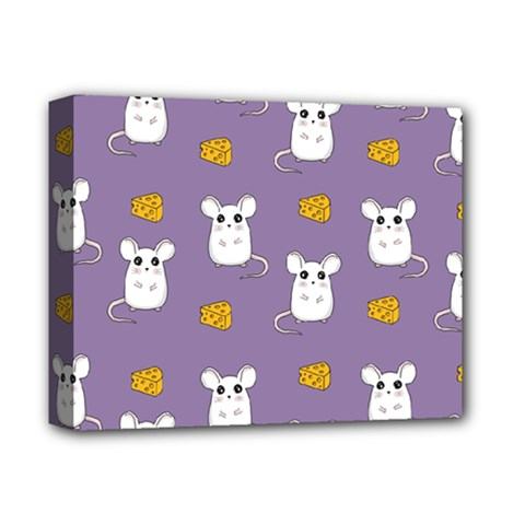 Cute Mouse Pattern Deluxe Canvas 14  X 11  by Valentinaart
