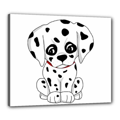 Cute Dalmatian Puppy  Canvas 24  X 20  by Valentinaart
