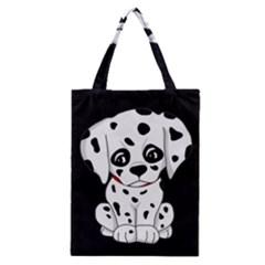 Cute Dalmatian Puppy  Classic Tote Bag by Valentinaart