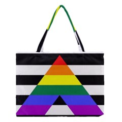Straight Ally Flag Medium Tote Bag by Valentinaart