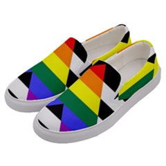 Straight Ally Flag Men s Canvas Slip Ons by Valentinaart