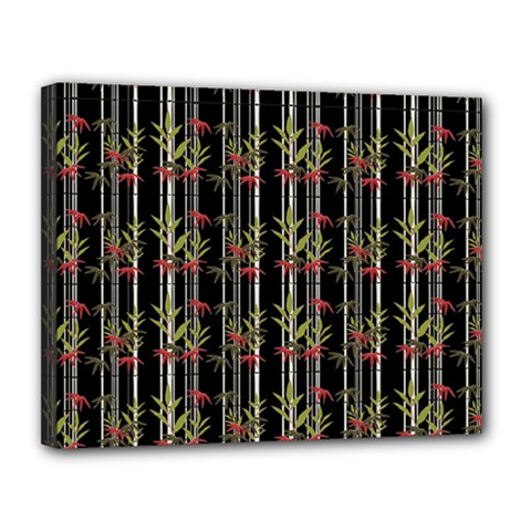 Bamboo Pattern Canvas 14  X 11  by ValentinaDesign