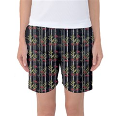 Bamboo Pattern Women s Basketball Shorts by ValentinaDesign