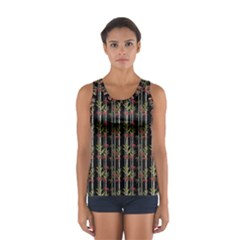Bamboo Pattern Sport Tank Top  by ValentinaDesign