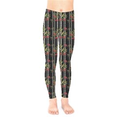 Bamboo Pattern Kids  Legging by ValentinaDesign