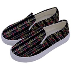 Bamboo Pattern Kids  Canvas Slip Ons by ValentinaDesign