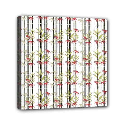 Bamboo Pattern Mini Canvas 6  X 6  by ValentinaDesign