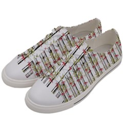 Bamboo Pattern Women s Low Top Canvas Sneakers by ValentinaDesign