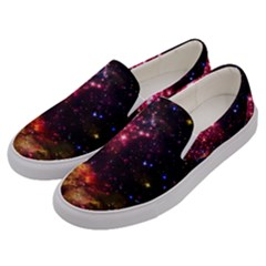 Space Colors Men s Canvas Slip Ons by ValentinaDesign