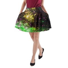 Space Colors A Line Pocket Skirt by ValentinaDesign