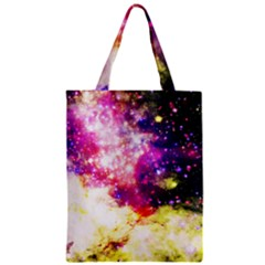 Space Colors Zipper Classic Tote Bag by ValentinaDesign