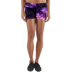 Space Colors Yoga Shorts by ValentinaDesign