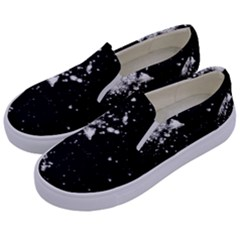 Space Colors Kids  Canvas Slip Ons by ValentinaDesign