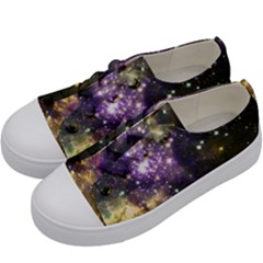 Space Colors Kids  Low Top Canvas Sneakers by ValentinaDesign