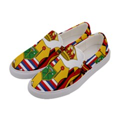 Kingdom Of Hawaii Coat Of Arms, 1795 1850 Women s Canvas Slip Ons by abbeyz71