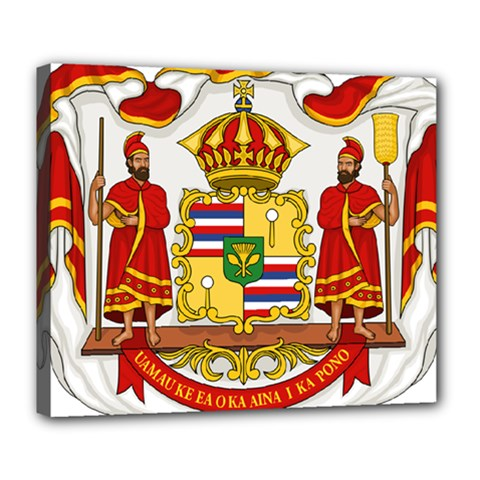 Kingdom Of Hawaii Coat Of Arms, 1850 1893 Deluxe Canvas 24  X 20   by abbeyz71