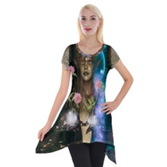 The Wonderful Women Of Earth Short Sleeve Side Drop Tunic by FantasyWorld7