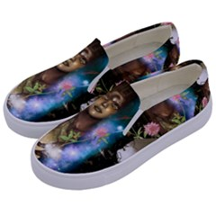 The Wonderful Women Of Earth Kids  Canvas Slip Ons by FantasyWorld7