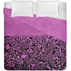 Modern Paperprint Pink Duvet Cover Double Side (king Size) by MoreColorsinLife