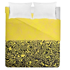 Modern Paperprint Yellow Duvet Cover Double Side (queen Size) by MoreColorsinLife
