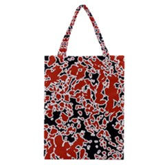 Splatter Abstract Texture Classic Tote Bag by dflcprints