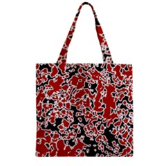 Splatter Abstract Texture Zipper Grocery Tote Bag by dflcprints