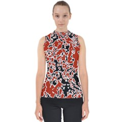 Splatter Abstract Texture Shell Top