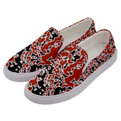 Splatter Abstract Texture Men s Canvas Slip Ons by dflcprints