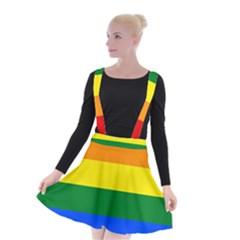 Pride Flag Suspender Skater Skirt by Valentinaart