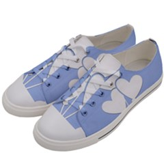 Clouds Sky Air Balloons Heart Blue Men s Low Top Canvas Sneakers by Nexatart