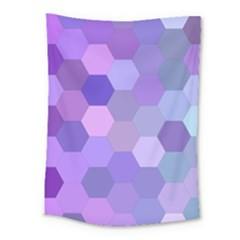Purple Hexagon Background Cell Medium Tapestry by Nexatart