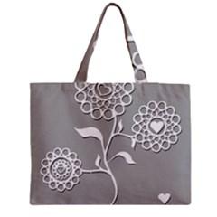 Flower Heart Plant Symbol Love Medium Tote Bag by Nexatart