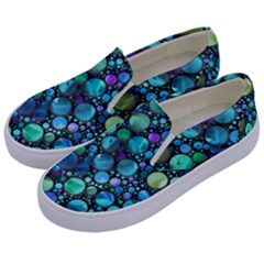 Lovely Shapes 2c Kids  Canvas Slip Ons by MoreColorsinLife