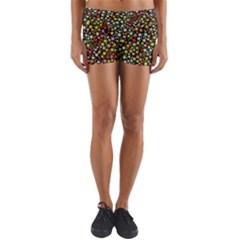 Lovely Shapes 4b Yoga Shorts by MoreColorsinLife
