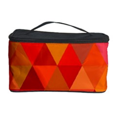 Red Hot Triangle Tile Mosaic Cosmetic Storage Case by Nexatart