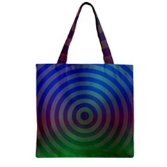 Blue Green Abstract Background Zipper Grocery Tote Bag by Nexatart