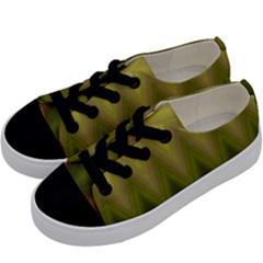 Zig Zag Chevron Classic Pattern Kids  Low Top Canvas Sneakers by Nexatart
