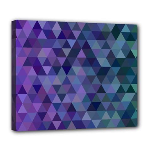 Triangle Tile Mosaic Pattern Deluxe Canvas 24  X 20   by Nexatart