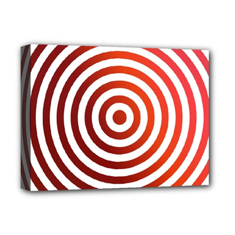Concentric Red Rings Background Deluxe Canvas 16  X 12   by Nexatart