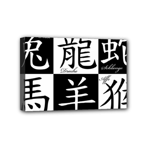 Chinese Signs Of The Zodiac Mini Canvas 6  X 4  by Nexatart